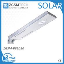 Lámparas de calle solares integradas a prueba de viento con instalación vertical / horizontal