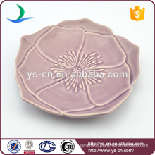 Flower Design Ceramic Dish For Decoration