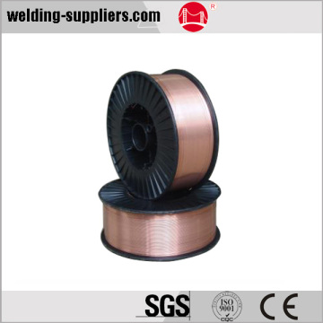 Mild steel copper coated welding wire