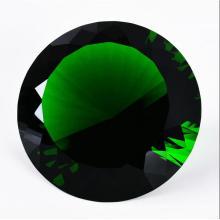 Presente de Decoração de Casamento 100mm Diamante de Cristal Verde