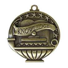Solid Die Cast Knowledge Value Medaillen Gold