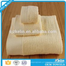 toalha de convidado de hotel de algodão tingida lisa