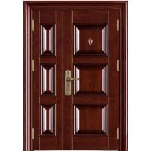 Дом двойной лист дизайн стальных дверей
