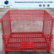 Contenedor de malla de alambre de almacenamiento industrial