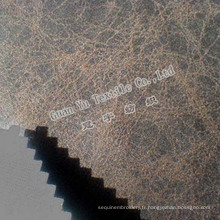 Velours de Polyester gaufré Suede canapé tissu (G69-38)