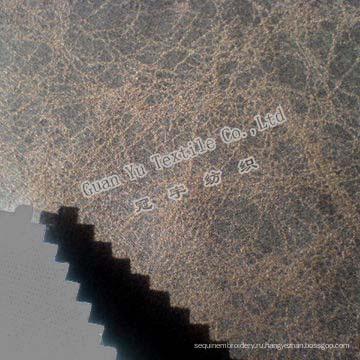 Тиснением полиэстера замша диван бархата (G69-38)