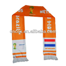 2014 Acrylic Football Fan Scarf Soccer fan Scarf