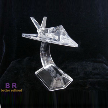 Crystal Glass Aircraft Model voor decoratie