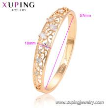 52076 xuping самый продаваемый 18-каратного позолоченного мода микро проложить мода браслет