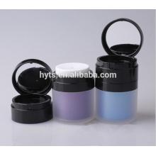 Frasco cosmético acrílico mal ventilado 30g de alta qualidade com espelho