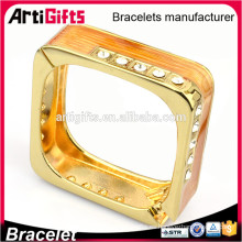 Promotional square shaped simple design blank bangles