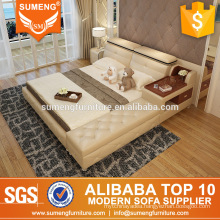 SUMENG crystal buttons wooden bed designs,latest bed designs,bedroom furniture set