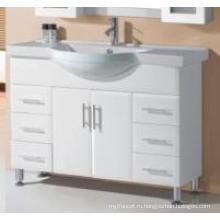 Современная сантехника глянцевый Белый МДФ деревянная Тщета ванной комнаты (P192-1200ВТ)