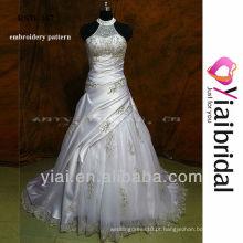 RSW167 vestidos de noiva de pescoço alto