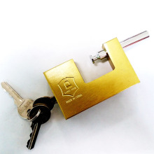 Imitate Brass Rectangular Padlock with Flat Key and Computer Key