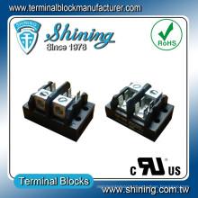 TGP-085-02A 600V 85A 2 Pole LED Power Distribution Terminal Strip