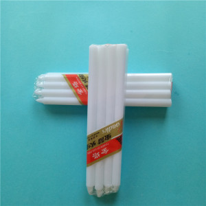 Long Burning Taper Decoration Lilin Putih