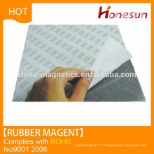 Isotropic A4 size fridge Natural rubber magnet with 3M adhesive paper