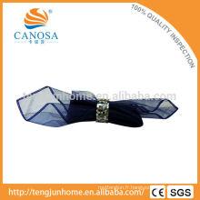 Décoration de table Anneau de serviette à coque noir MOP avec métal