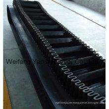 Getriebe Gummi Förderband mit Rippen und Röcke Breite 500mm bis 2400mm