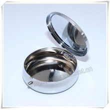 Religious Metal Packing Box, Round Box, Catholic Box, Rosary Box (IO-p032)