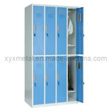 8 portas Estrutura de aço Knock Dwon Metal Lockers