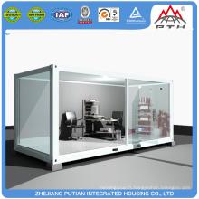 Kiosque modulaire de conteneur de bureau préfabriqué
