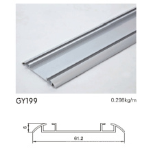 Aluminum Wardrobe Bottom Track in Anodised Silver Color