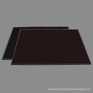 Classic Stitched Faux Leather Desk Pad Deak Mat