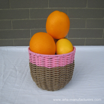Wholesale Price China for Rattan Plant Pots Round Plastic Rattan Flower Pot supply to United States Manufacturers