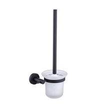 Matte Black Wall Mount Toilet Brush Holder