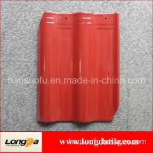 Deep Red Color Corrugated Clay Roof Tiles 300X400mm