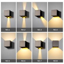 Регулируемый водонепроницаемый светодиодный настенный светильник квадратного типа