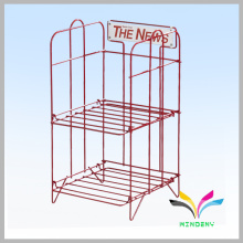 Factory Directly Supply High Quality 2 Layers metal magazine display stand