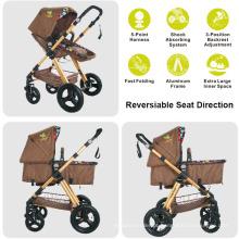 Sistema confortável do curso do carrinho de criança do bebê, partes do carrinho de criança de bebê