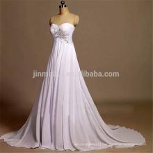 Sweep Train A-line Evening Gowns for Wedding 2016 Sweetheart Backless Long Prom Dresses Abiti Da Cerimonia Da Sera