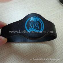 Pulsera de caucho de silicona de moda resistente al agua RFID