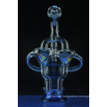 Blue Stardust Oil Barrel Recycler Glass Smoking Water Pipe (ES-GB-561)
