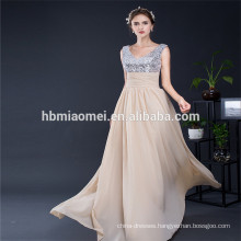 Hot Sale Competitive Price Vintage Sequins Maxi Wedding Bridesmaid Woman Sexy Evening Dress