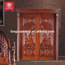 Conception de porte principale en teck en bois, conception de porte en verre en bois, conception de porte en panneau de bois