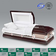 Casket Manufacturers LUXES 2015 New Styles Hardwood Casket For Funeral Cremation