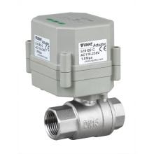 Mini 1/2 pulgadas de drenaje automático de agua Válvula de acero inoxidable Válvula de control eléctrico con temporizador