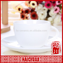 Factory direct fine bone china coffee cup and saucer, ceramic planter pot with saucer