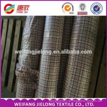 Heißer Verkauf für T-Shirt 100% Baumwolle Garn gefärbt Stoff 100% Baumwolle Garn gefärbt Karos Stoff für T-Shirt