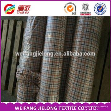 Venta caliente para la camiseta Tela teñida del hilado del algodón 100% tela teñida del hilado del algodón 100% para la camiseta