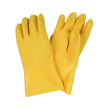 Jersey Liner Glove, Latex Fully Caoted Gauntlet Cuff