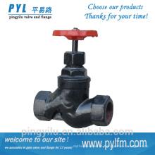 Conexão rosca globo de ferro globo válvula de controle válvula globo de vapor preço