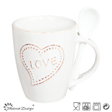 EMBOSSED WORDS OR LOGO LOVELY COLORFUL STONEWARE MUG