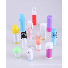 Custom cute cartoon lip balm container children lip balm tube