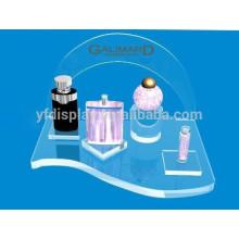 Présentoir cosmétique acrylique transparent de partie supérieure du comptoir